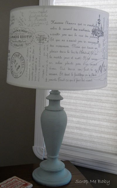 French graffiti lamp