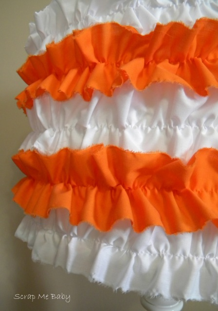 Orange & white ruffles